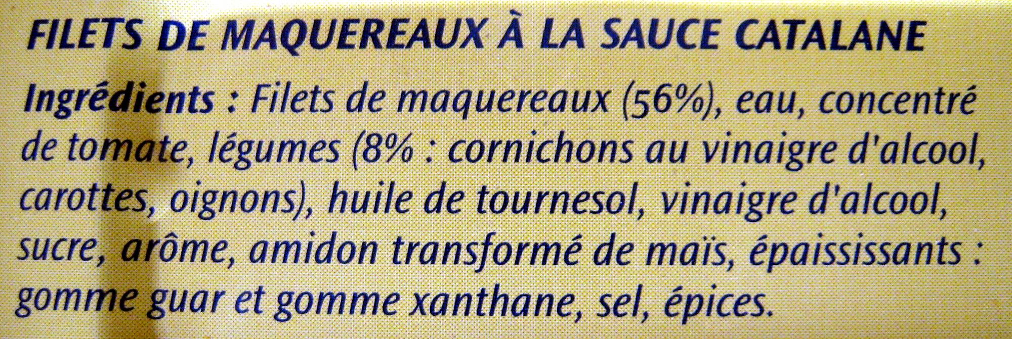 Filets de maquereaux à la sauce catalane - Ingrediënten - fr