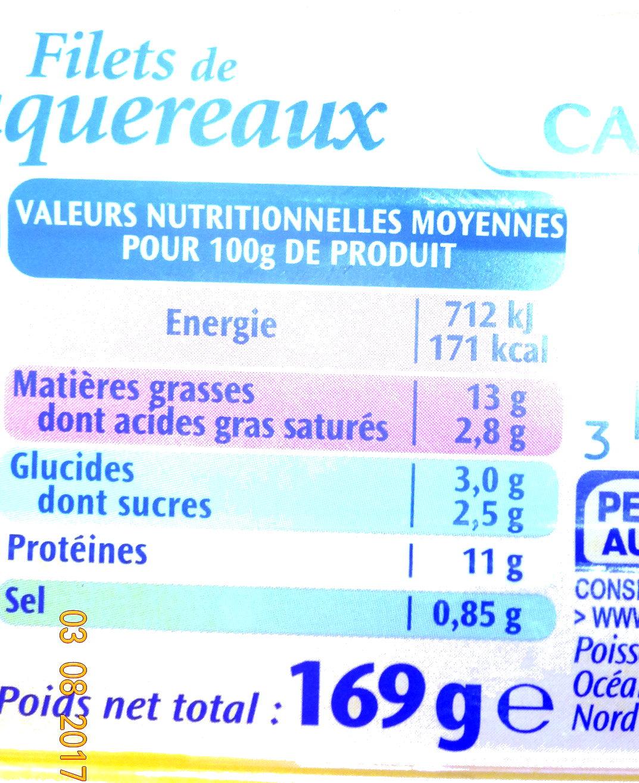 Filets de maquereaux à la sauce catalane - Voedingswaarden - fr