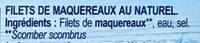 Filet de maquereaux au naturel - Ingrédients - fr