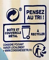 Filet de maquereaux au naturel - Instruction de recyclage et/ou information d'emballage - fr