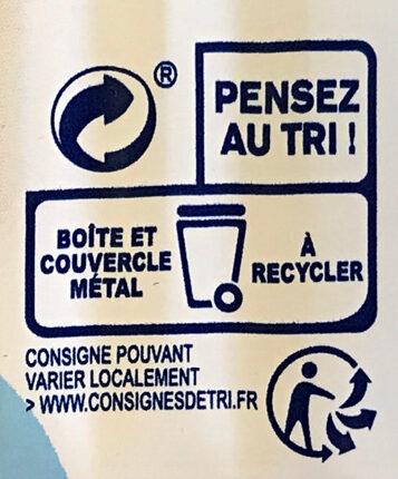 Filet de maquereaux au naturel - Recyclinginstructies en / of verpakkingsinformatie - fr