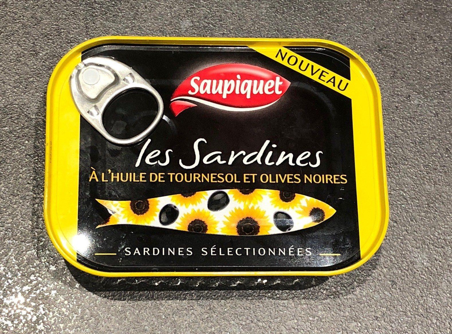 Les sardines (À l'Huile de Tournesol et Olives Noires) - Product