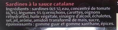 Sardines à la catalane - Ingrédients