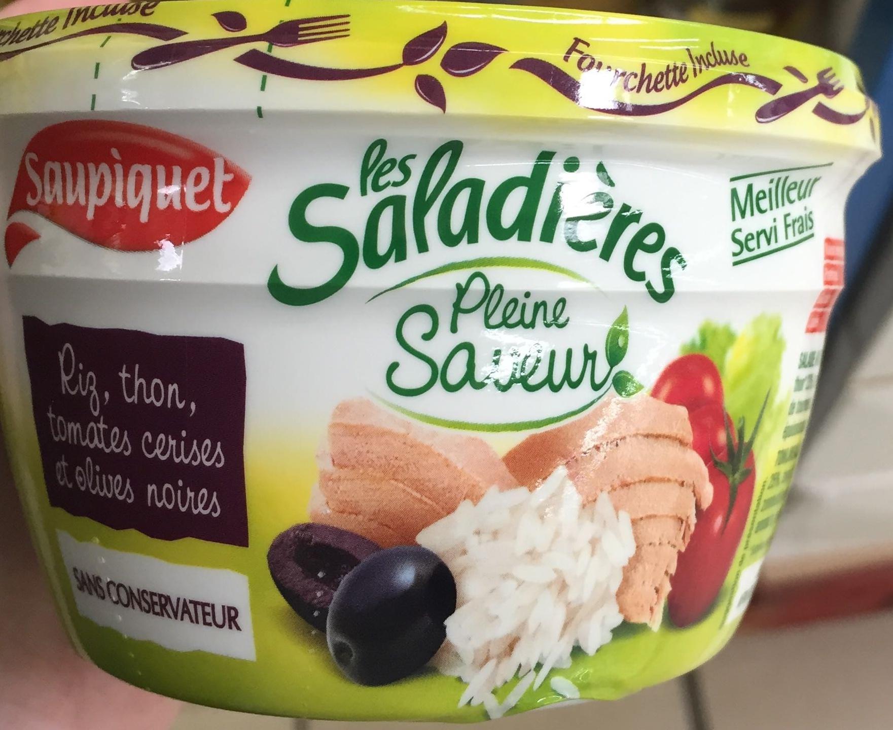 Les Saladières Pleine Saveur Riz, thon, tomates cerises et olives noires - Produit - fr