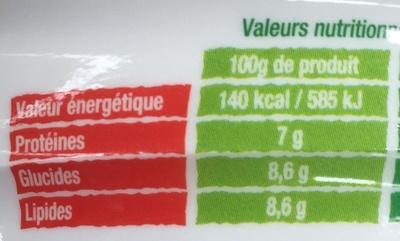 Les Saladières Pleine Saveur Riz, thon, tomates cerises et olives noires - Informations nutritionnelles