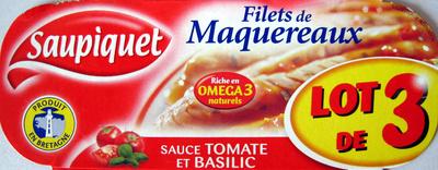 Filets de Maquereaux (Sauce Tomate et Basilic) Lot de 3 - Product - fr