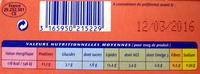 Filets de Maquereaux (Sauce Tomate et Basilic) Lot de 3 - Voedingswaarden - fr