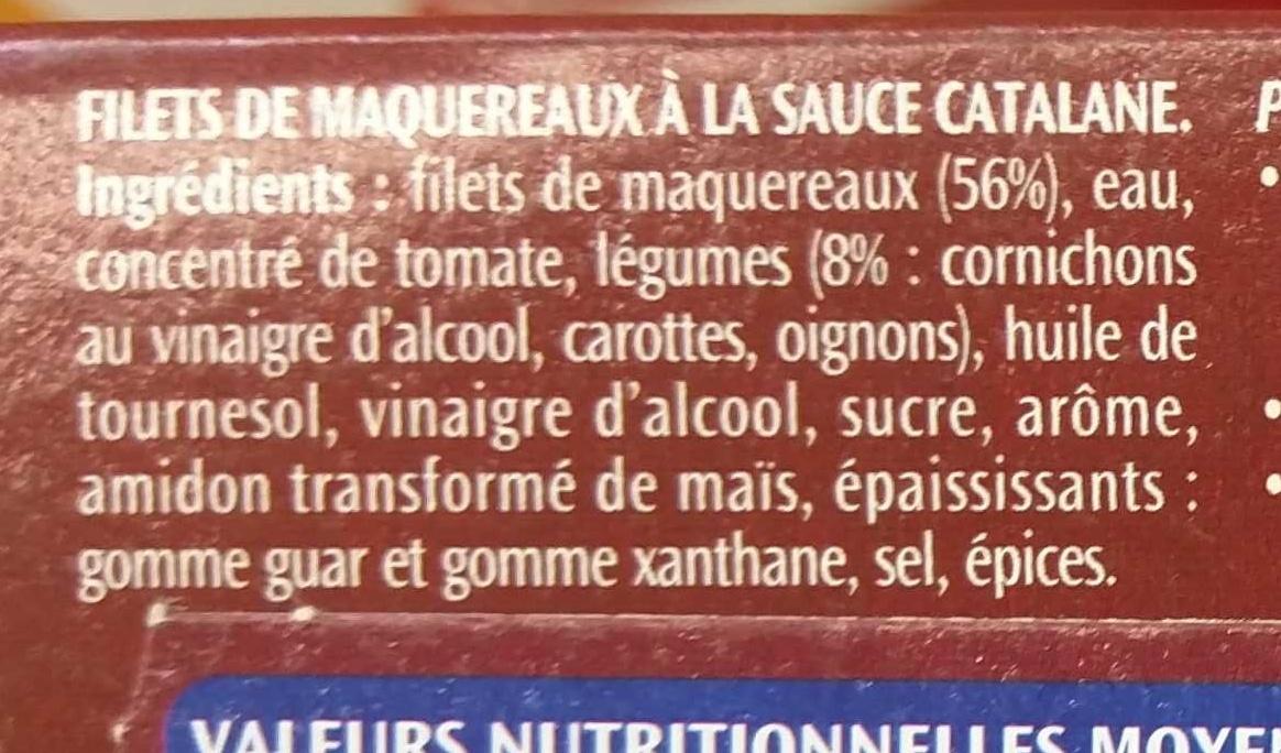 Filets de Maquereaux à la Catalane - Ingrediënten - fr