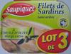 Filets de Sardines (à L'Huile d'Olive vierge extra) Lot de 3 - Produit