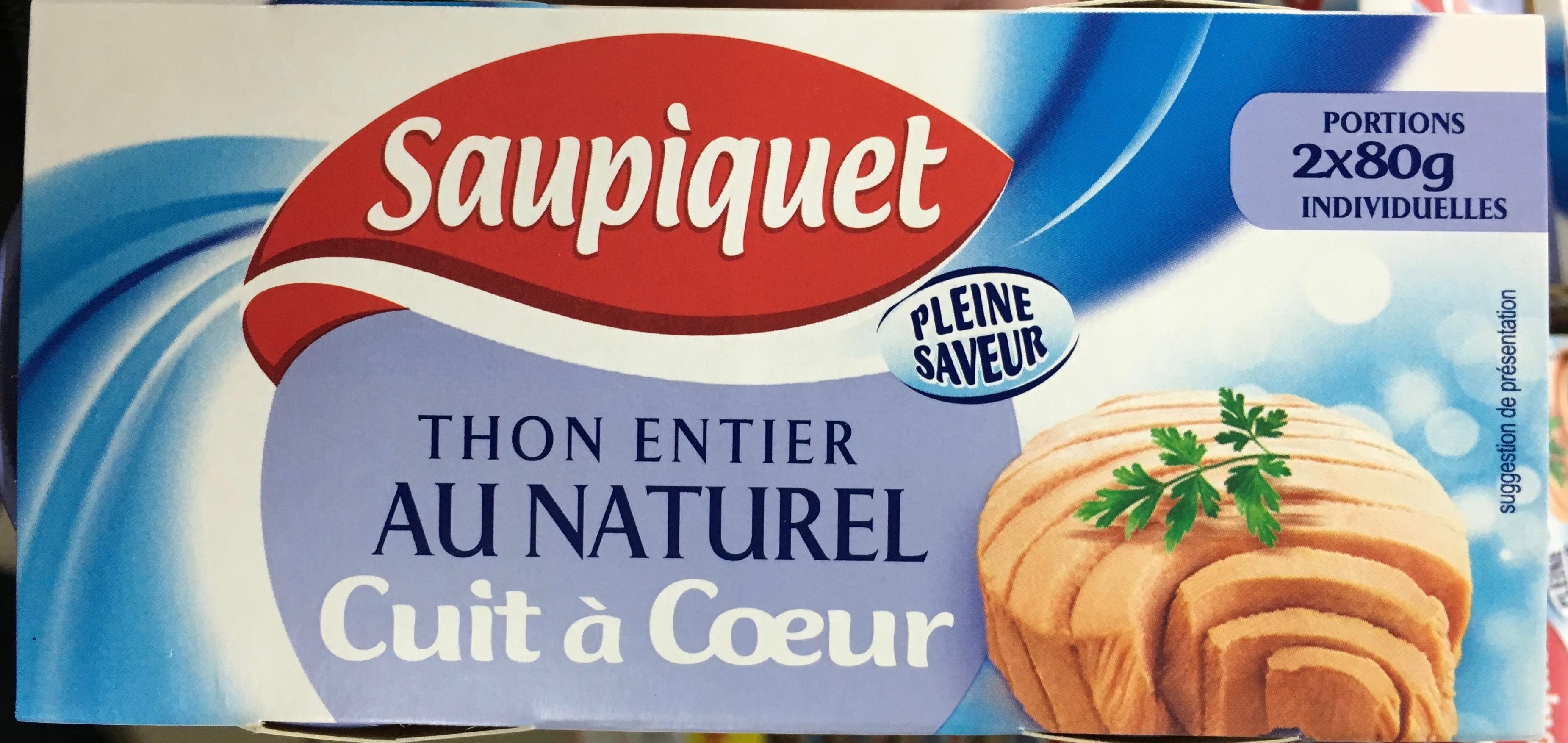 Thon entier au naturel cuit à coeur - Produit - fr
