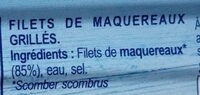 Filets de maquereaux grillés natures - Ingrediënten - fr