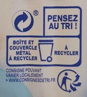 Filets de maquereaux grillés natures - Istruzioni per il riciclaggio e/o informazioni sull'imballaggio - fr
