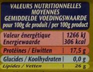 Filets de maquereaux - Nutrition facts