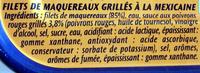 Filets de Maquereaux (Grillés À la Mexicaine) - Ingrediënten