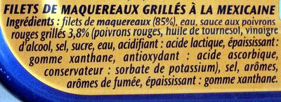 Filets de Maquereaux (Grillés À la Mexicaine) - Ingredients - fr