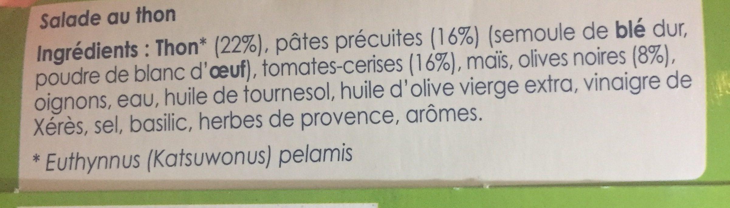 Salade Pasta Les Saladières - Ingrédients - fr