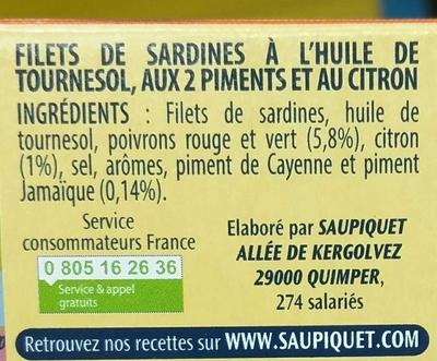 Filets de Sardines - Ingrediënten - fr