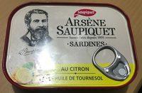 Arsène Saupiquet Sardines au citron et huile de tournesol - Product - fr