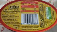 Rillettes de thon poivron - Informations nutritionnelles - fr