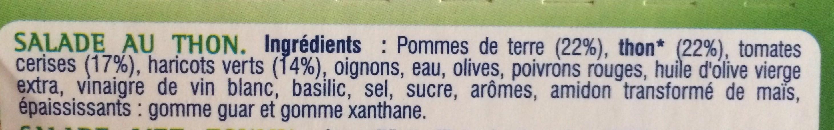 Les Saladières Niçoise - Thon, Pommes de terre, Tomates cerises, Haricots verts - Ingredients - fr
