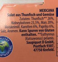 Thunfisch-Salat Mexicana - Ingrédients - fr