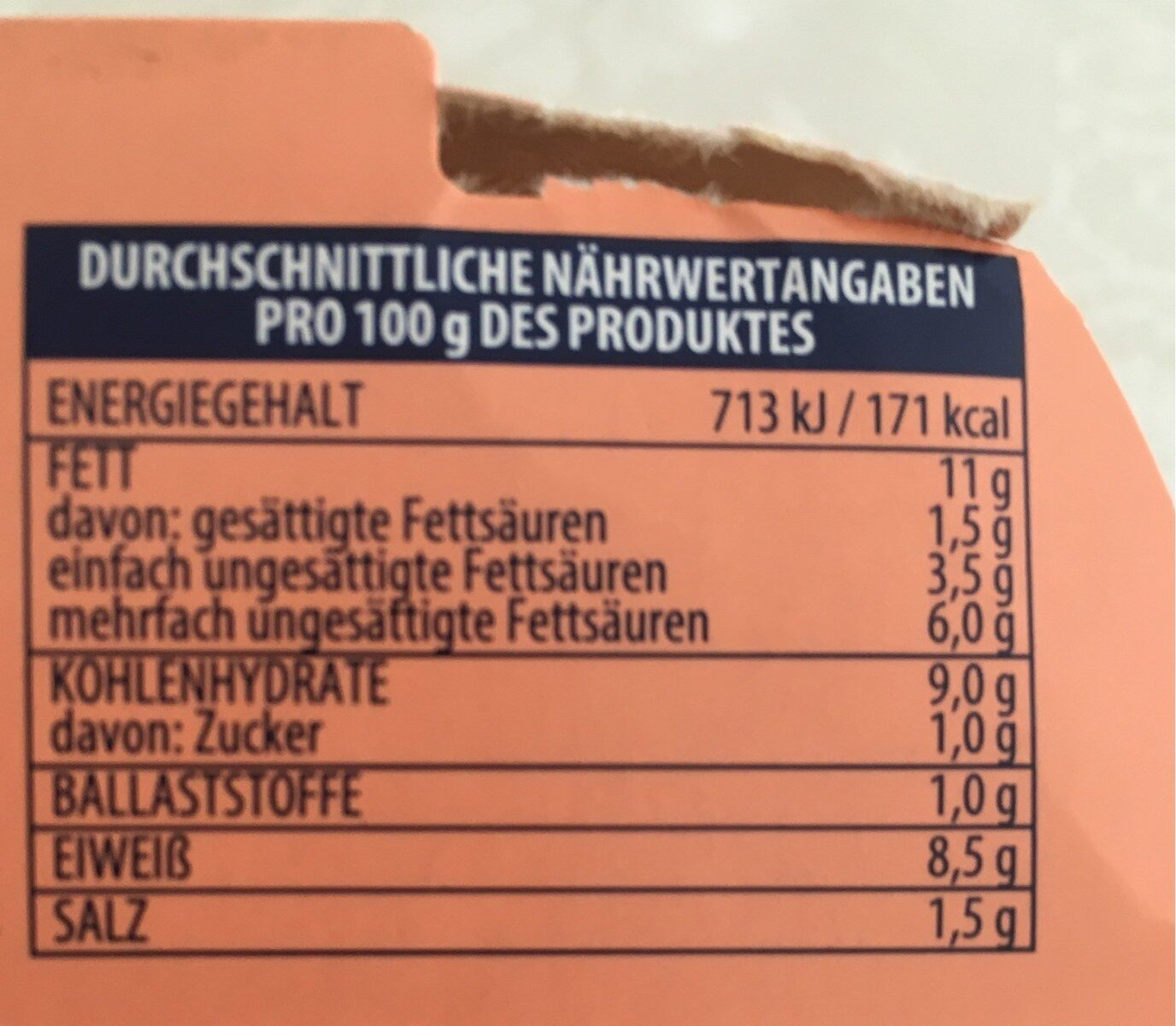 Saumiquet Rio mare Thunfisch-Salat Italiana - Nutrition facts - fr