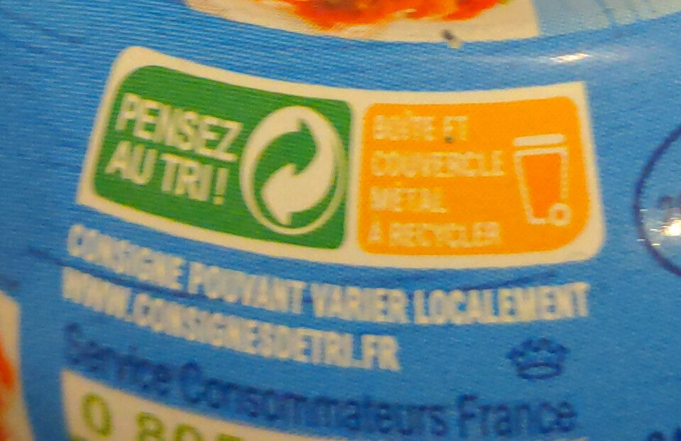 Le thon sauce catalane - Recycling instructions and/or packaging information - fr