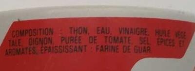 Thon à l'escabèche - Ingredients - fr