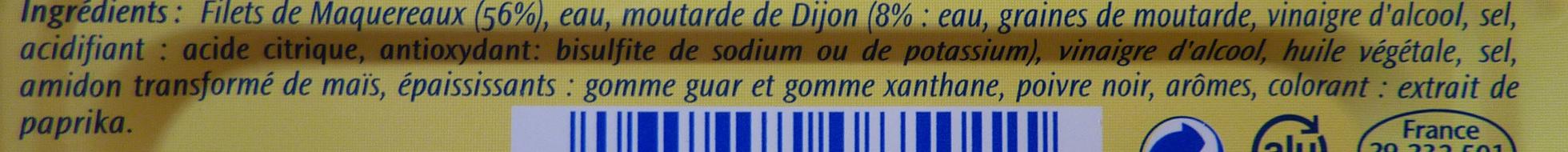 Filets de Maquereaux (À la Moutarde) - Ingrediënten - fr