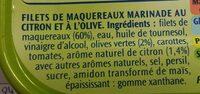 filet de maquereaux citron  olive - Ingredienti - fr