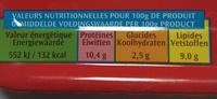 Filets de Sardines (à la Tomate et ses petits légumes) - Voedingswaarden - fr