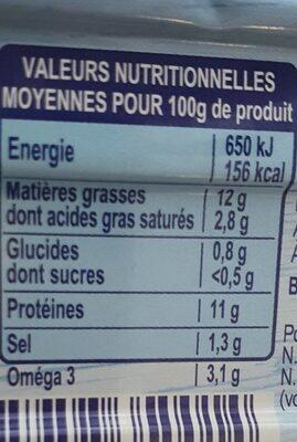 Fillet de Maquereaux vin blanc & aromates - Valori nutrizionali - fr