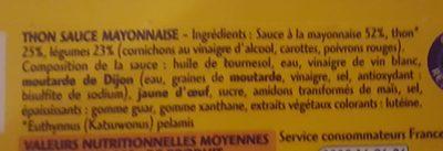 Thon sauce mayonnaise - Ingrédients - fr