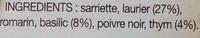 Bouquet Garni Pot-au-Feu & Viandes - Ingrédients - fr