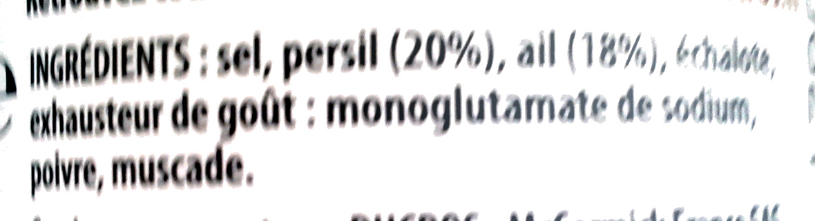 Persillade - Ingredients