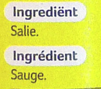 Sauge - Ingredients