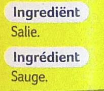 Sauge - Ingrédients