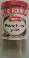 Poivre blanc grains - Product - fr