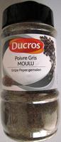 Poivre Gris moulu - Produit - fr