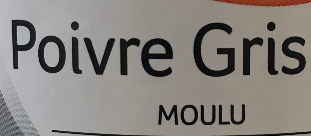 Poivre Gris moulu - Ingredients - fr