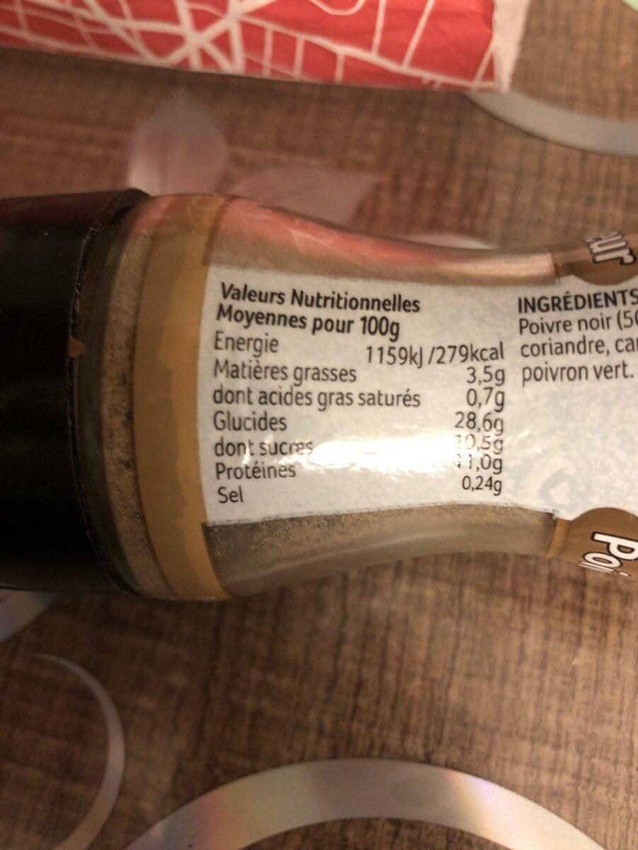 Moulin Poivre Saveur et Epices Assaisonnement - Valori nutrizionali - fr