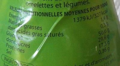 Première Saveur Persillade Provençale - Informations nutritionnelles
