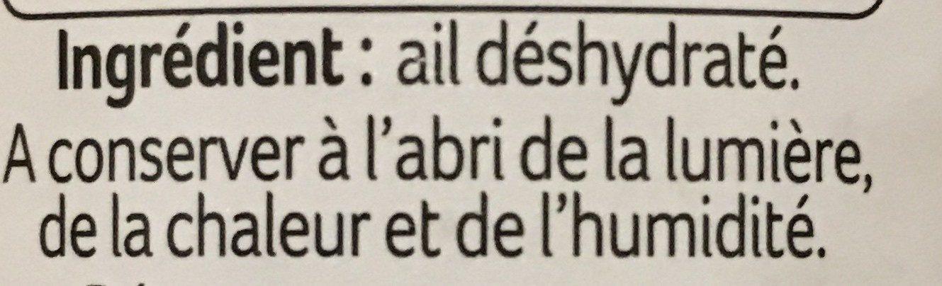 Ail semoule Ducros - Ingrédients - fr
