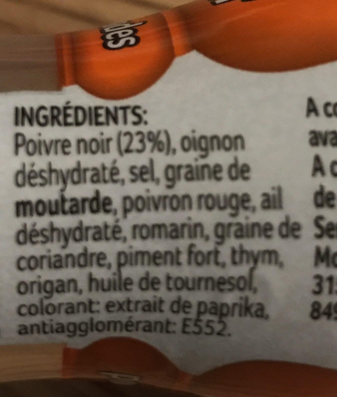MOULIN GRILLADES DUCROS - Ingrediënten