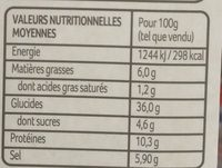 Riz d'Or - Nutrition facts