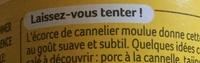 La cannelle moulue - Ingredients