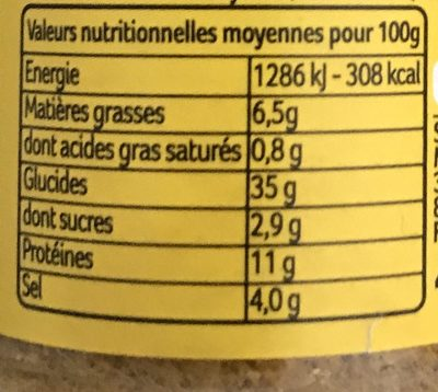 Curry Poudre - Nutrition facts