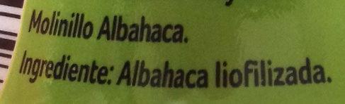Albahaca Molinillo - Ingredientes