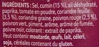 Mélange Malin Faijtas Mexicaines - Ingredients