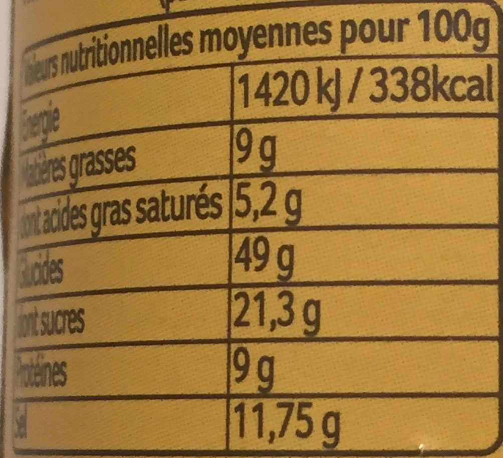 Curry Korma doux force 2 - Informations nutritionnelles